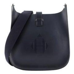Hermes Evelyne Sellier Bag Vache Hunter 33