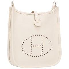 Hermès Evelyne Tpm 221996 White Epsom Leather Cross Body Bag
