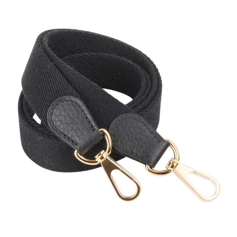 Hermes Evelyne TPM Bag Black Clemence Gold Hardware For Sale 3
