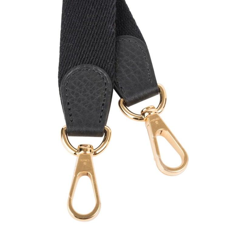 Hermes Evelyne TPM Bag Black Clemence Gold Hardware For Sale 4