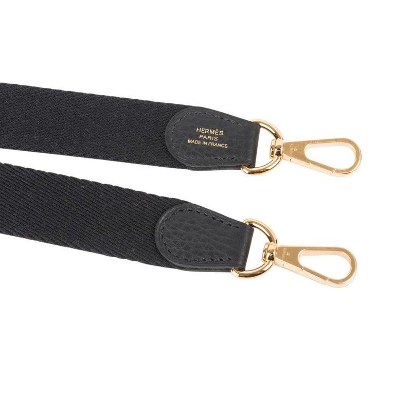 Hermes Evelyne TPM Bag Black Clemence Gold Hardware For Sale 5