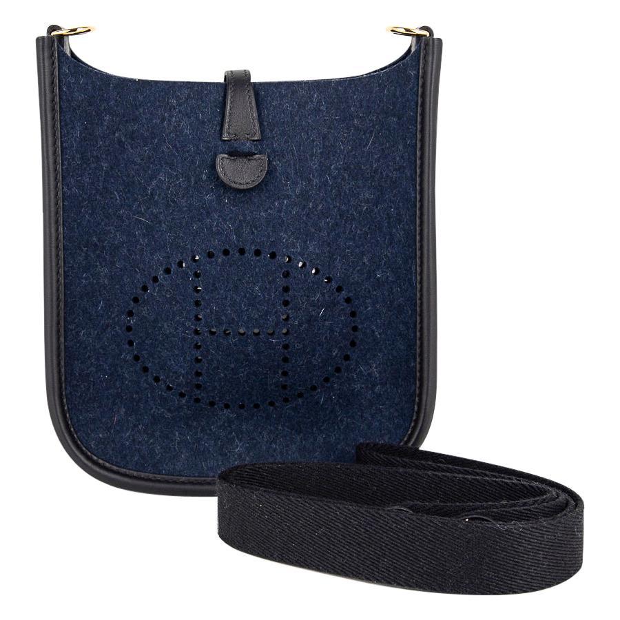 Hermes Evelyne TPM Blue Feutre Swift Gold Hardware