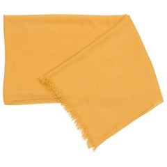 Hermes Extra Light Yellow Cashmere Stole Shawl