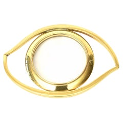 Hermès Eye of Cleopatra Magnifier Desk Accessory or Paperweight Vintage