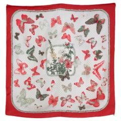Hermes Farandole Butterflies Silk Scarf