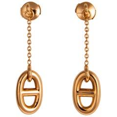 Hermes Farandole Gold Drop Earrings