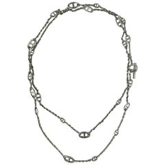 Hermes Farandole Silver Necklace