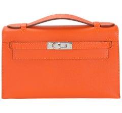 Hermès Feu Epsom Kelly Pochette PHW