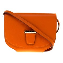 Hermes Feu Evercolor Leather Gold Hardware Mini Convoyeur Bag
