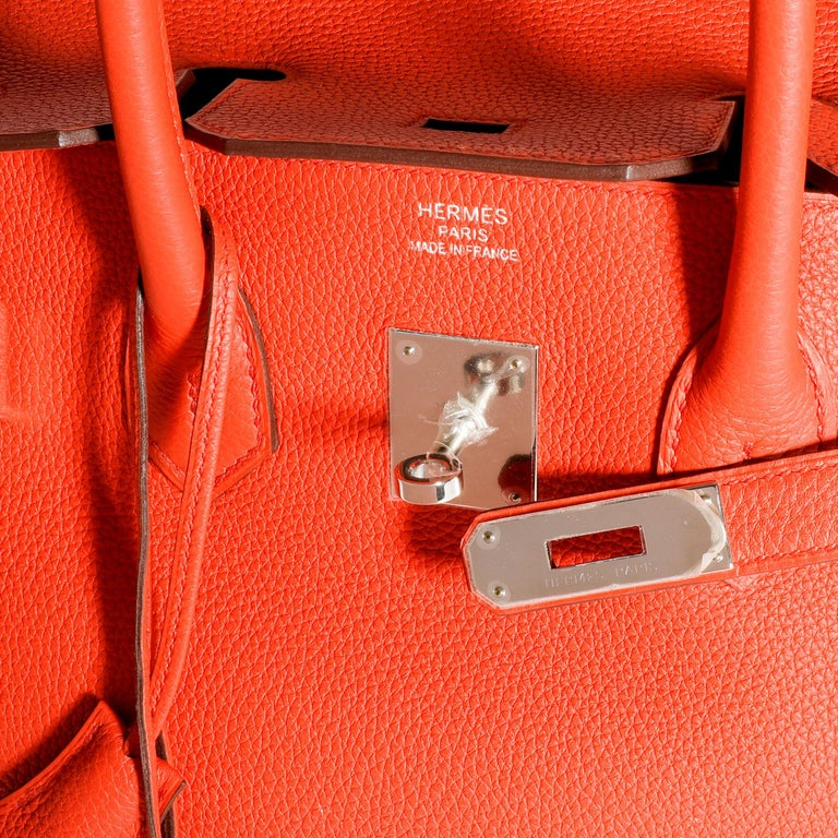 Hermès Feu Togo Birkin 35 PHW In Good Condition For Sale In New York, NY
