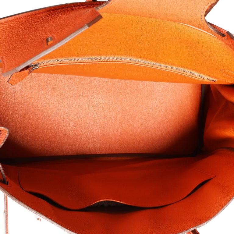 Women's Hermès Feu Togo Birkin 35 PHW For Sale