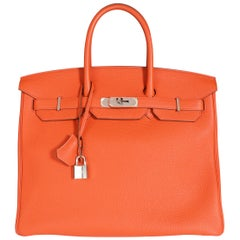Hermès Feu Togo Birkin 35 PHW