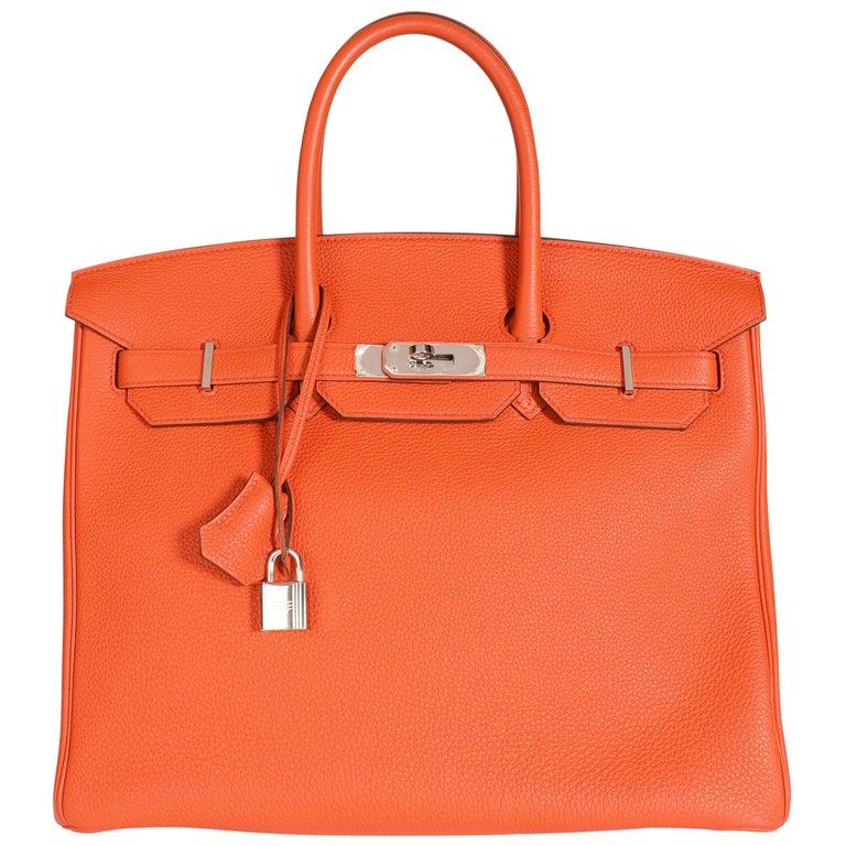 Hermès Feu Togo Birkin 35 PHW For Sale