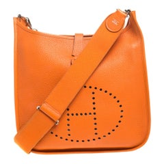 Hermes Feu Togo Leather Evelyne III PM Bag