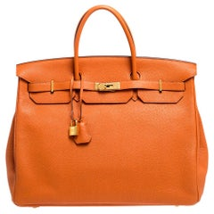 Hermes Feu Togo Leather Gold Hardware Birkin 40 Bag