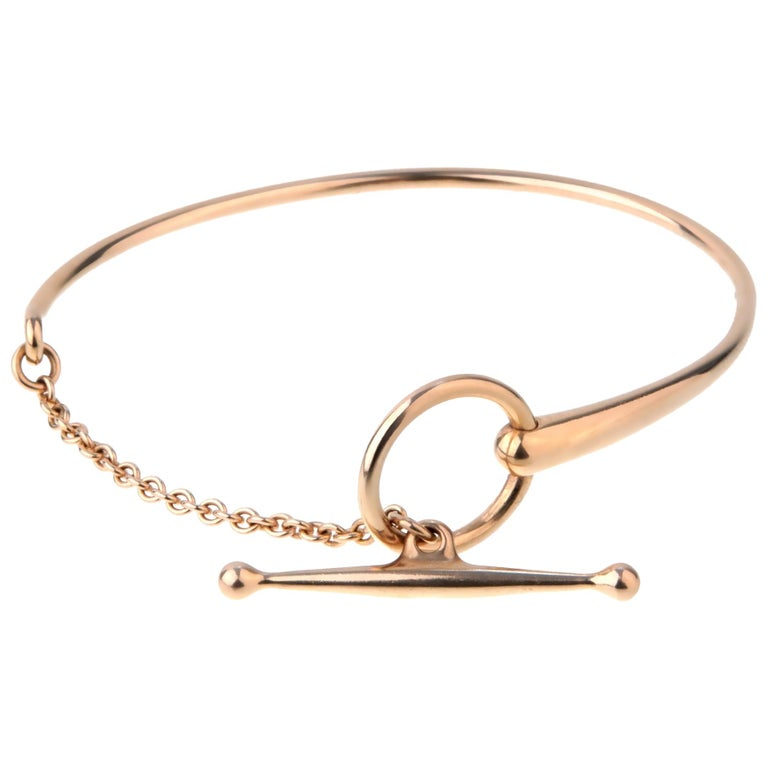a97a937750bb Hermes Filet D Or Rose Gold Bracelet For Sale at 1stdibs