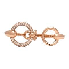 Hermes 'Filet d'Or' Rose Gold Diamond Ring, Large Model