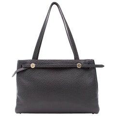 Hermes Fjord Vert Gris Leather Cabana Tote Bag