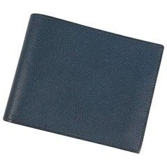 HERMES Folded wallet Citizen Twill Silk In unisex wallet Navy