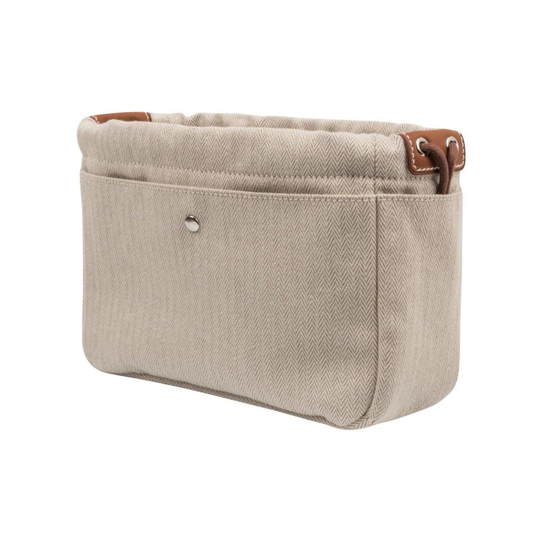 b7b6fbe9f Hermes Fourbi 20 Handbag Pouch Canvas Barenia Leather Palladium Hardware  For Sale at 1stdibs