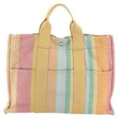 Hermes Fourre Tout Handbag Multicolor Toile MM