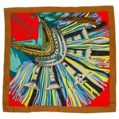 "Hermès Fringe Cashmere Silk Shawl 54"""