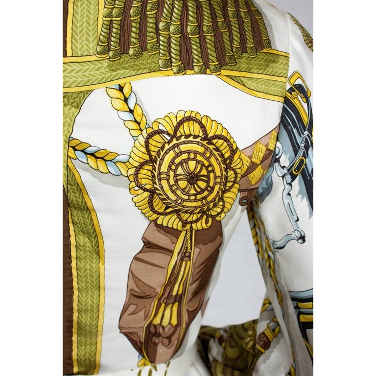 Women's Hèrmes Frontaux et Cocardes Limited edition silk dress, circa 1968 For Sale