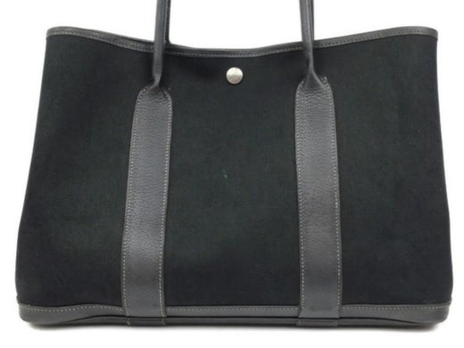 Hermès Garden Party 225678 Black Toile Canvas X Leather Tote For Sale at  1stdibs c30e4707cab8c