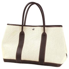 HERMES Garden Party PM Womens tote bag brown x Toile Ash