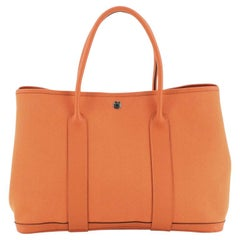 Hermes Garden Party Tote Toile and Leather 36