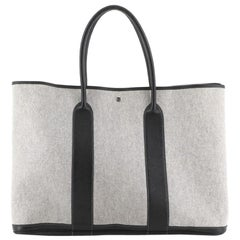 Hermes Garden Party Tote Toile and Leather TGM