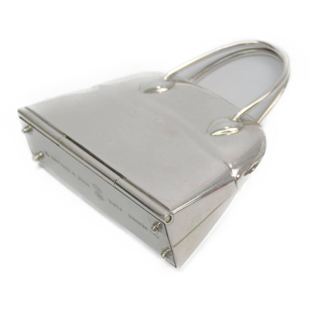 Hermès Hermes Genuine Sterling Silver Trinket Collectible Bag Box kc6RUmS