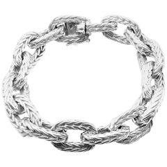 Hermes George L'Enfant Chain d'Ancre Sterling Silver Link Bracelet