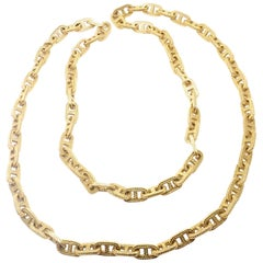 Hermes George L'Enfant Chain d'Ancre Yellow Gold Link Necklace