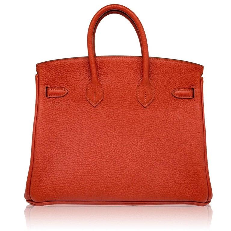 Hermès Geranium Togo 25cm Birkin Bag In Good Condition For Sale In London, GB