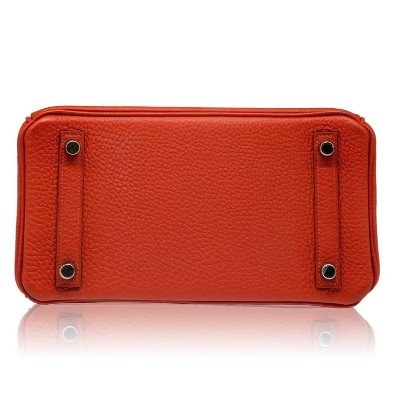 Women's Hermès Geranium Togo 25cm Birkin Bag For Sale