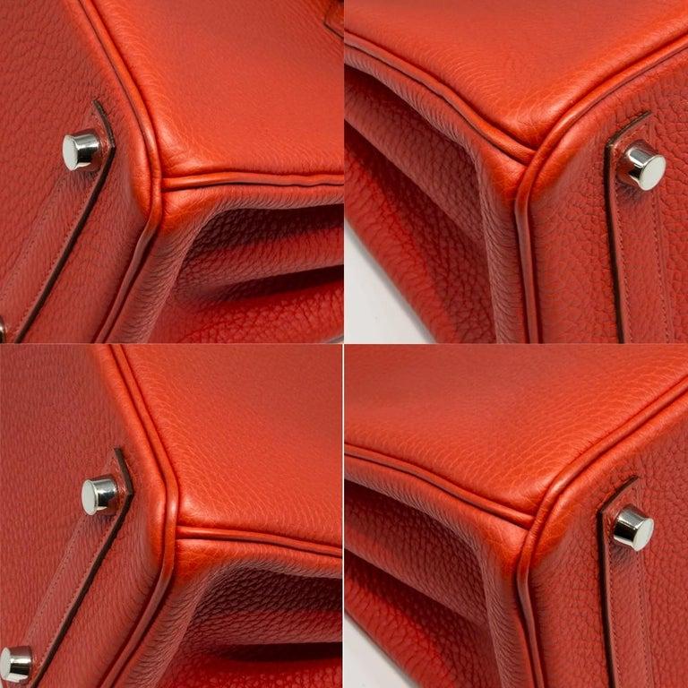 Hermès Geranium Togo 25cm Birkin Bag For Sale 1