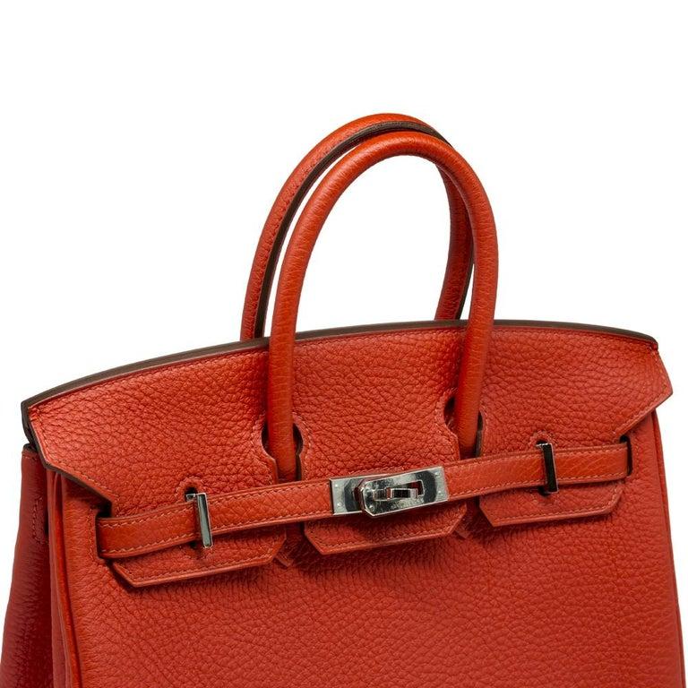 Hermès Geranium Togo 25cm Birkin Bag For Sale 2