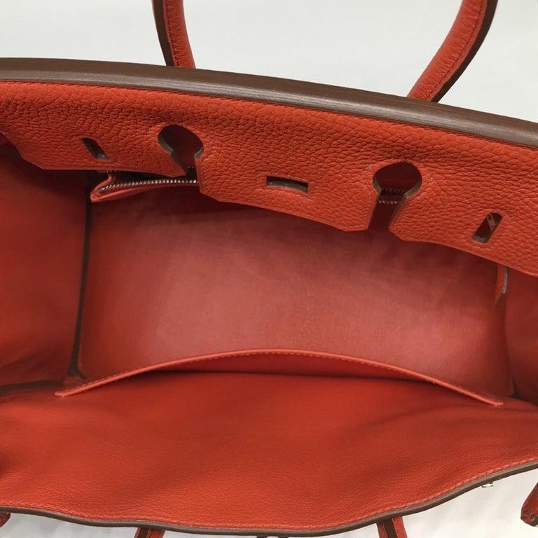 Hermès Geranium Togo 25cm Birkin Bag For Sale 3