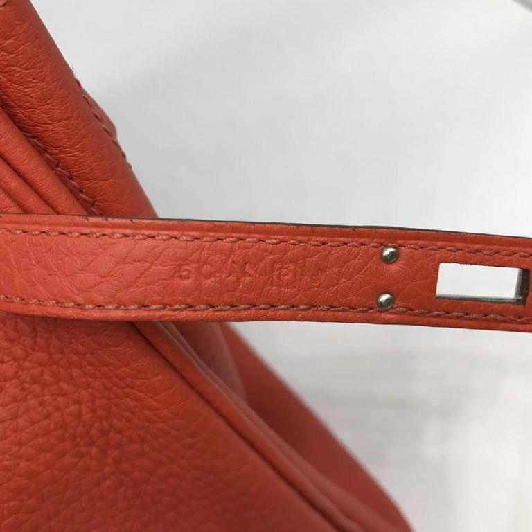 Hermès Geranium Togo 25cm Birkin Bag For Sale 4
