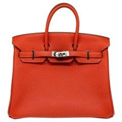 Hermès Geranium Togo 25cm Birkin Bag