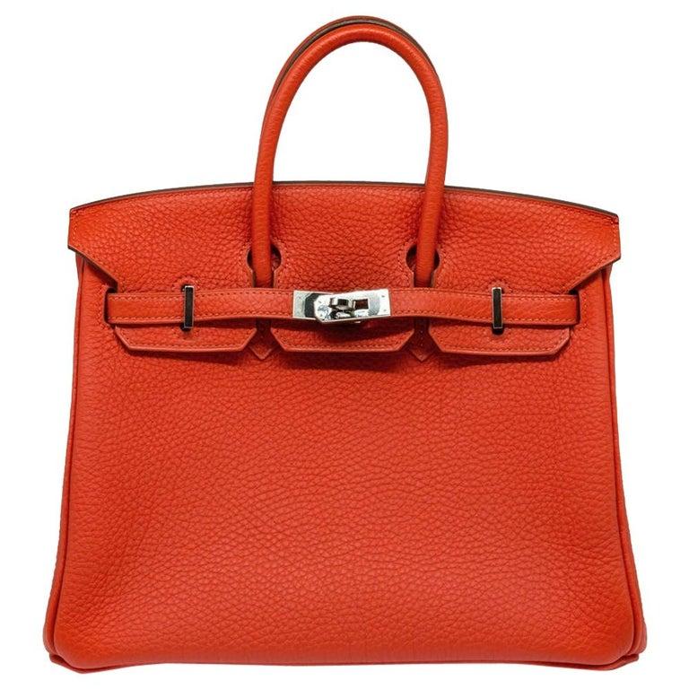 Hermès Geranium Togo 25cm Birkin Bag For Sale