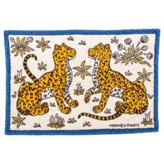 Hermes Ghepards Cotton Bathroom Rug