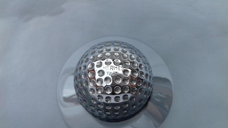 Hermès Glass Cup Change Tray Golf Rare For Sale 4