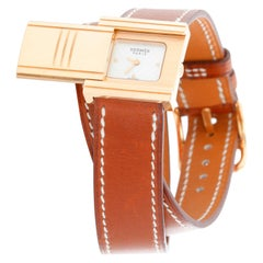 Hermes Glissade 18 Karat Rose Gold Ladies Watch