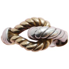 Hermes Gold and Silver Knot Ring