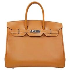 HERMES Gold Birkin 35 Bag