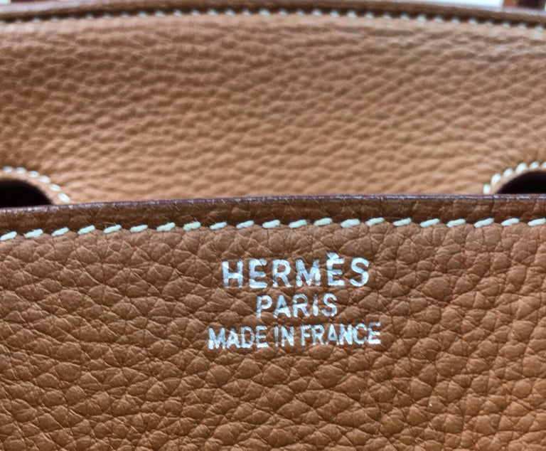Hermes Gold Birkin PHW 35cm For Sale 5