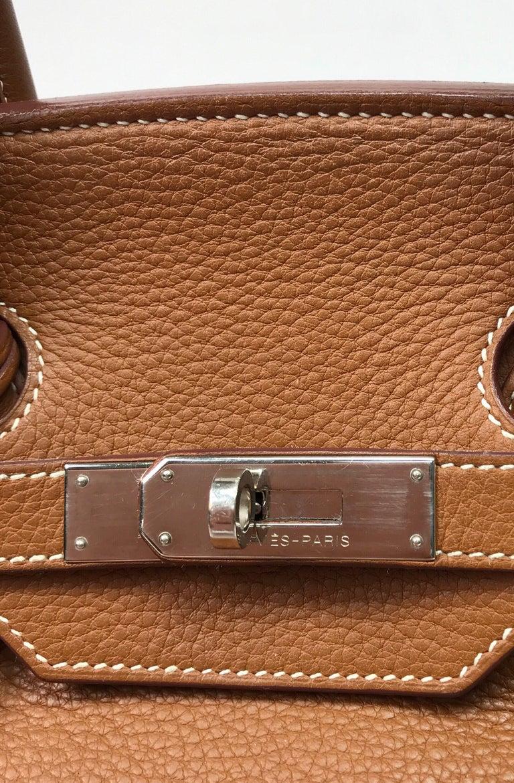 Hermes Gold Birkin PHW 35cm For Sale 1
