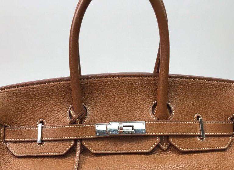 Hermes Gold Birkin PHW 35cm For Sale 2